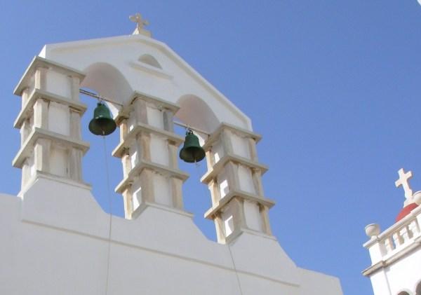 Church bells in Mykonos, Greece 2008