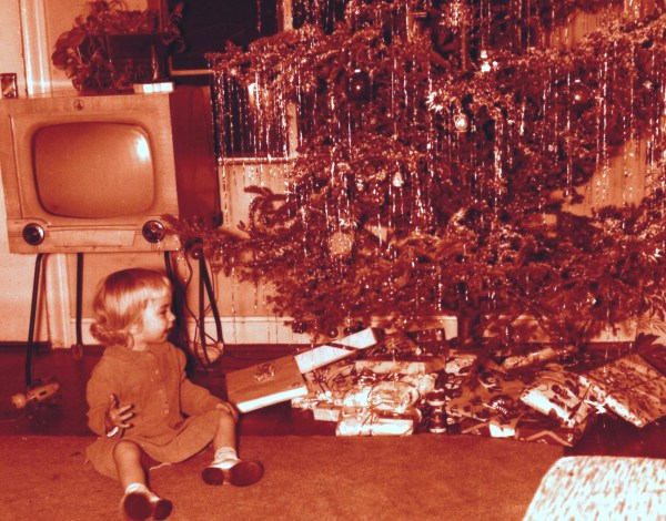 Me in 1958, already dreaming my Christmas dream