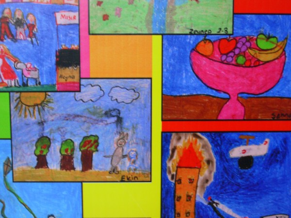 Children's artwork on display at Hagia Sophia, Istanbul 2008