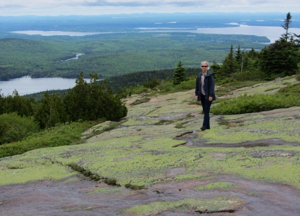 Jeff snapped this photo of me on Cadillac Mountain in Acadia National Park, June 2012