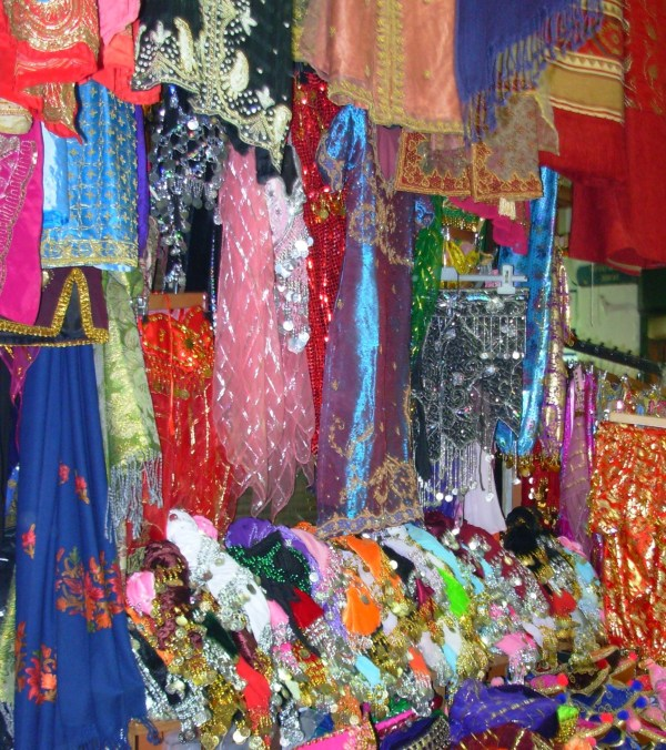 Scarves on display at an Istanbul market, 2008
