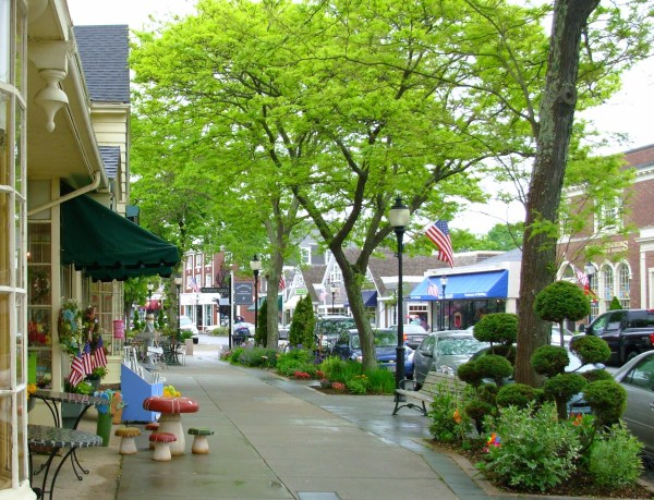 This charming Cape Cod, MA street, which I photographed in 2009, is just one example of many attractive small towns throughout America and the world.