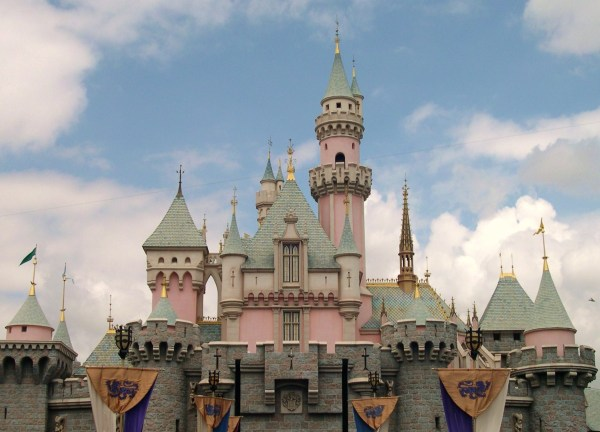 Just another day at Cinderella's castle, Disneyland in  Anaheim California, 2003