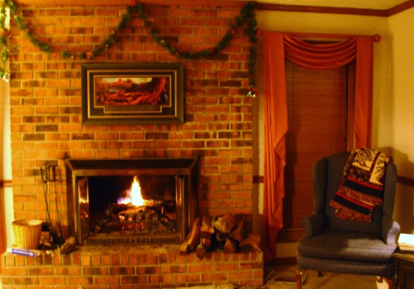 Mom and Dad's favorite room on a typical winter's night in 2006
