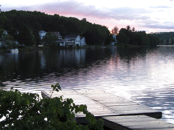Sunset in the lovely little town of Dexter, Maine, June 2012