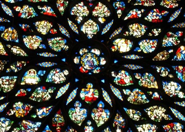 The rose window of Sainte-Chappelle, Paris, 2005