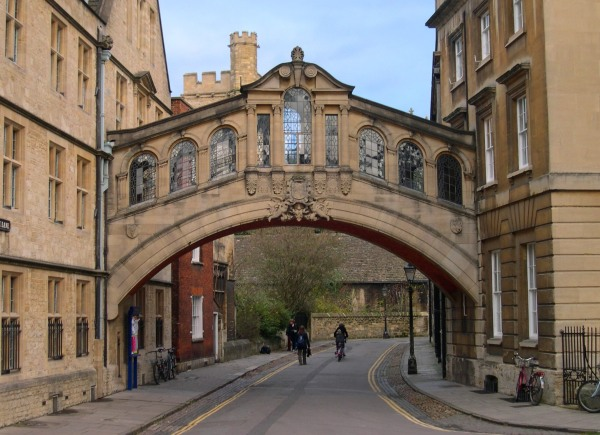 December 2005: the Hertford Bridge at Oxford, a fitting symbol of the past meeting the future.