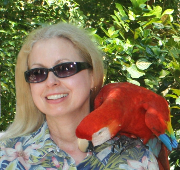 This scarlet macaw stole my button, but I didn't know it until I saw this photo.Roatan, Honduras, March 2011