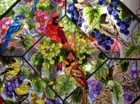 I saw this beautiful stained glass in a shop in Bar Harbor, Maine, June 2012