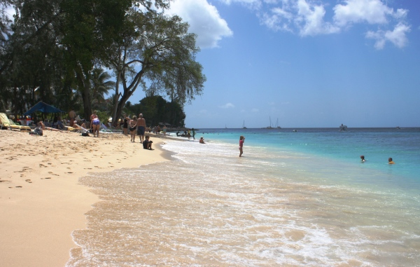 A beach in Barbados, one of my favorite islands, March 2010.