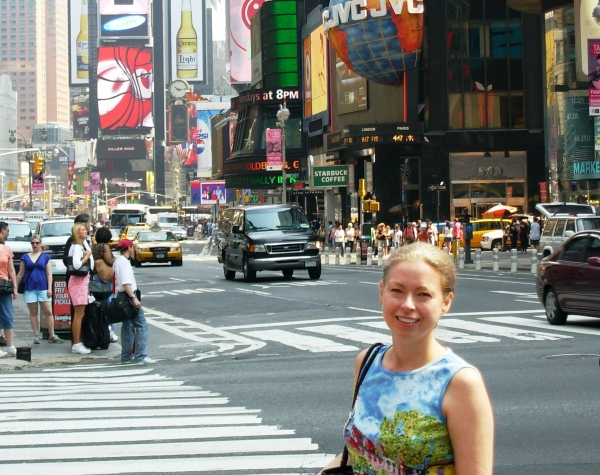 Here I am in the heart of Manhattan, loving every minute.  May 2007