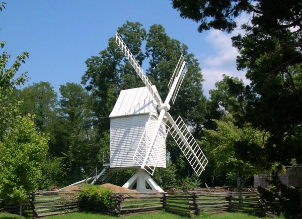 A windmill at Colonial Williamsburg, Virginia, August 2005