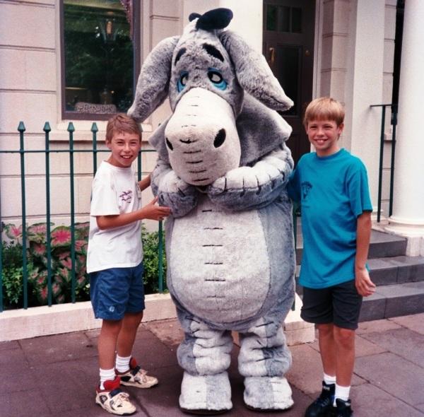Matt and Drew are among countless readers who love Eeyore. Walt Disney World, 1995