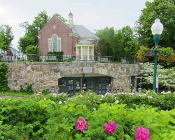 The public library in Camden, Maine includes a beautiful waterfront garden. June 2012