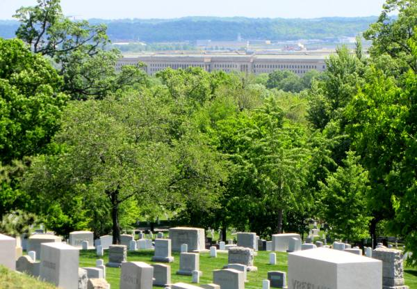 The Pentagon, as seen from Arlington National Cemetery, April 2012