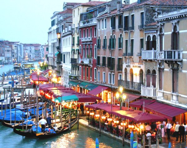City lights are enchanting, nowhere more so than in Venice in June 2008