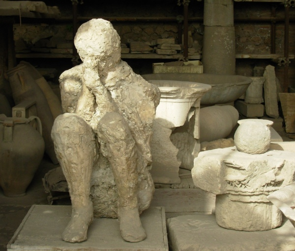 The plaster castings from Pompeii are a haunting reminder of past disasters and difficulties.  May 2008