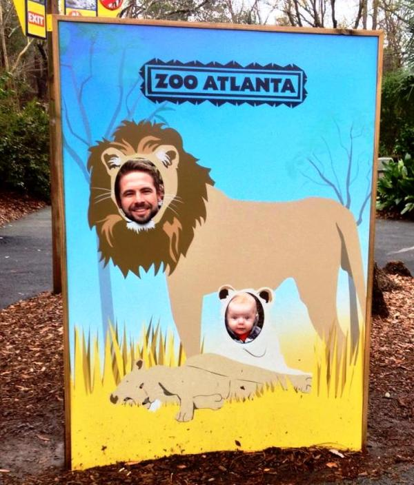 Grady and Drew at Zoo Atlanta, December 2014