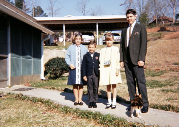 Carla, Al, Julia, Eric and Kitt Katt, Sunday morning, circa 1966
