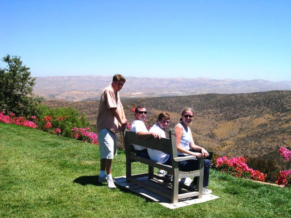 Drew, Jeff, Matt and I enjoy the view from the Reagan Library, July 2004