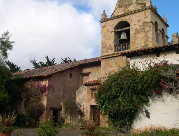 Mission Carmel is one of the oldest buildings still standing in California. December 2002