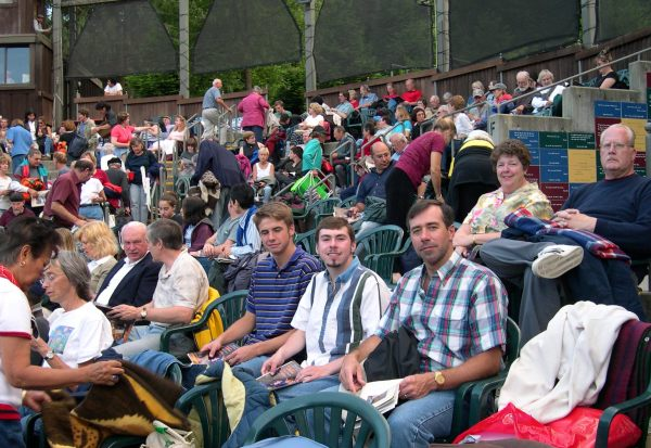 The audience awaits a truly wonderful performance of my favorite play, Arms and the Man, at the California Shakespeare Theater, July 2003