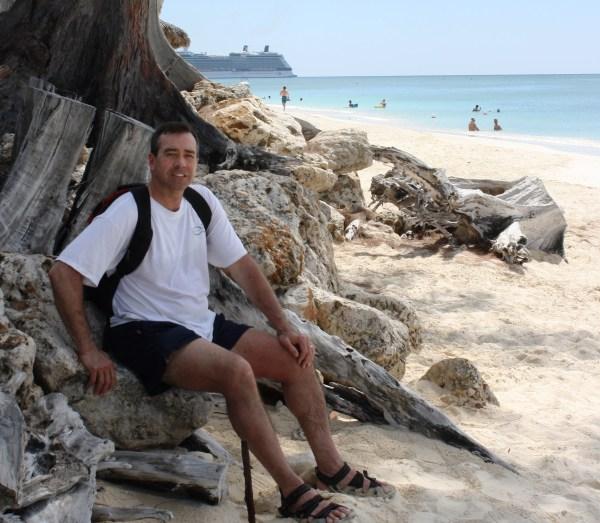 Jeff enjoys springtime on Grand Cayman Island, March 2011