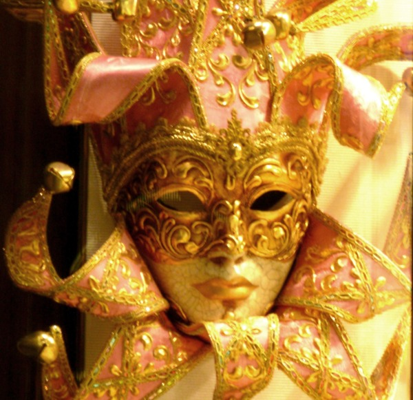 Even the most beautiful mask is no match for a real face.  Venice, June 2008