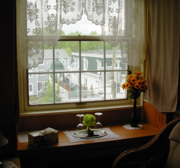 The view from our Bed and Breakfast room in Magog, Quebec, May 2009