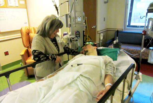 Carla was waiting for Matt when he woke up from his cardiac ablation. October 2012