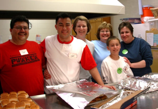 Friends from church have a totally fun evening cooking at the PORT shelter, Newport News, Virginia, March 2008