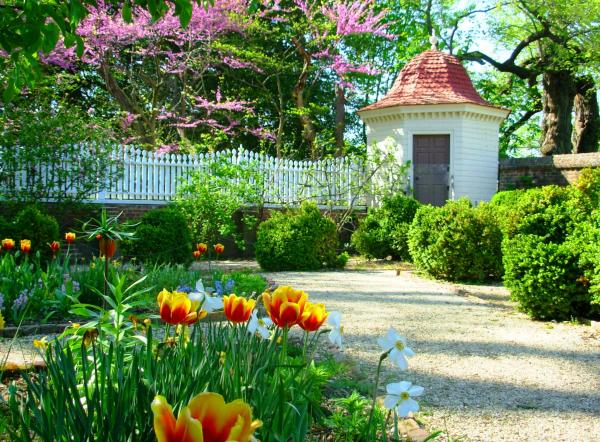 One of many lovely sights on the grounds of Mount Vernon, Virginia, April 2010