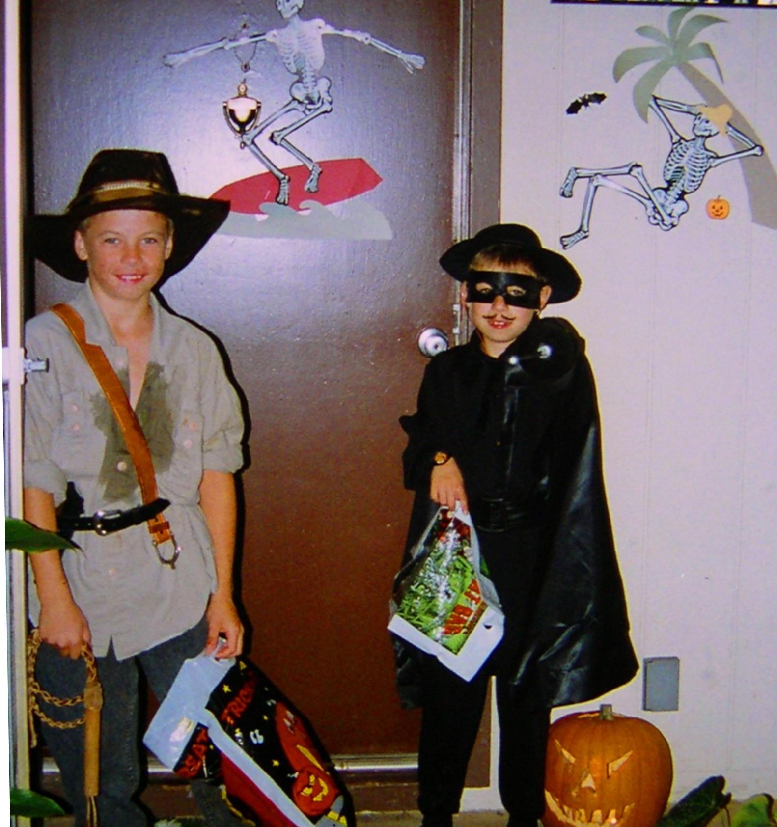 EN GARDE! Halloween in Hawaii with Indiana Jones and Zorro, 1993