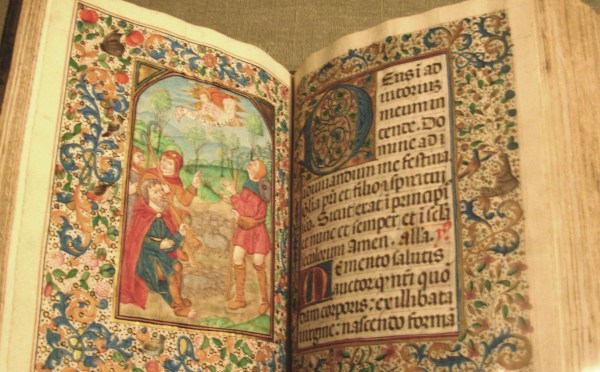 A medieval illuminated manuscript at the Philadelphia Museum of Art, July 2007