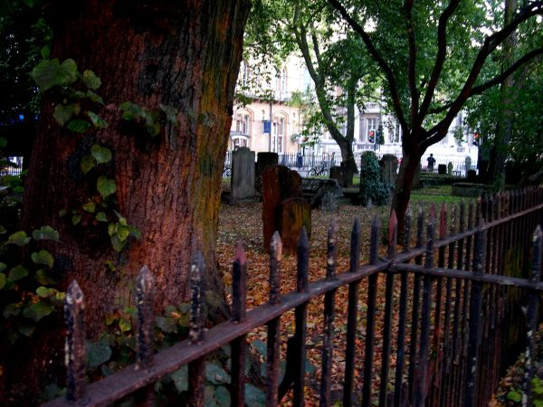 A centuries-old graveyard in Oxford, not far from Headington Quarry. December, 2005
