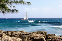 A sailboat off the coast of Barbados, March 2010