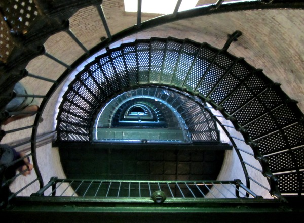 Sometimes the journey to what we seek appears to have no end.   Inside Currituck Lighthouse, September, 2013.