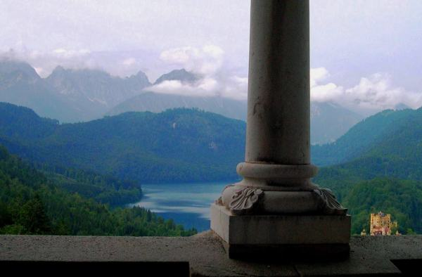 Hohenschwangau Castle as seen from Neuschwanstein, Bavaria