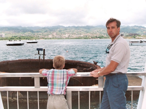 At the Arizona Memorial, 1991