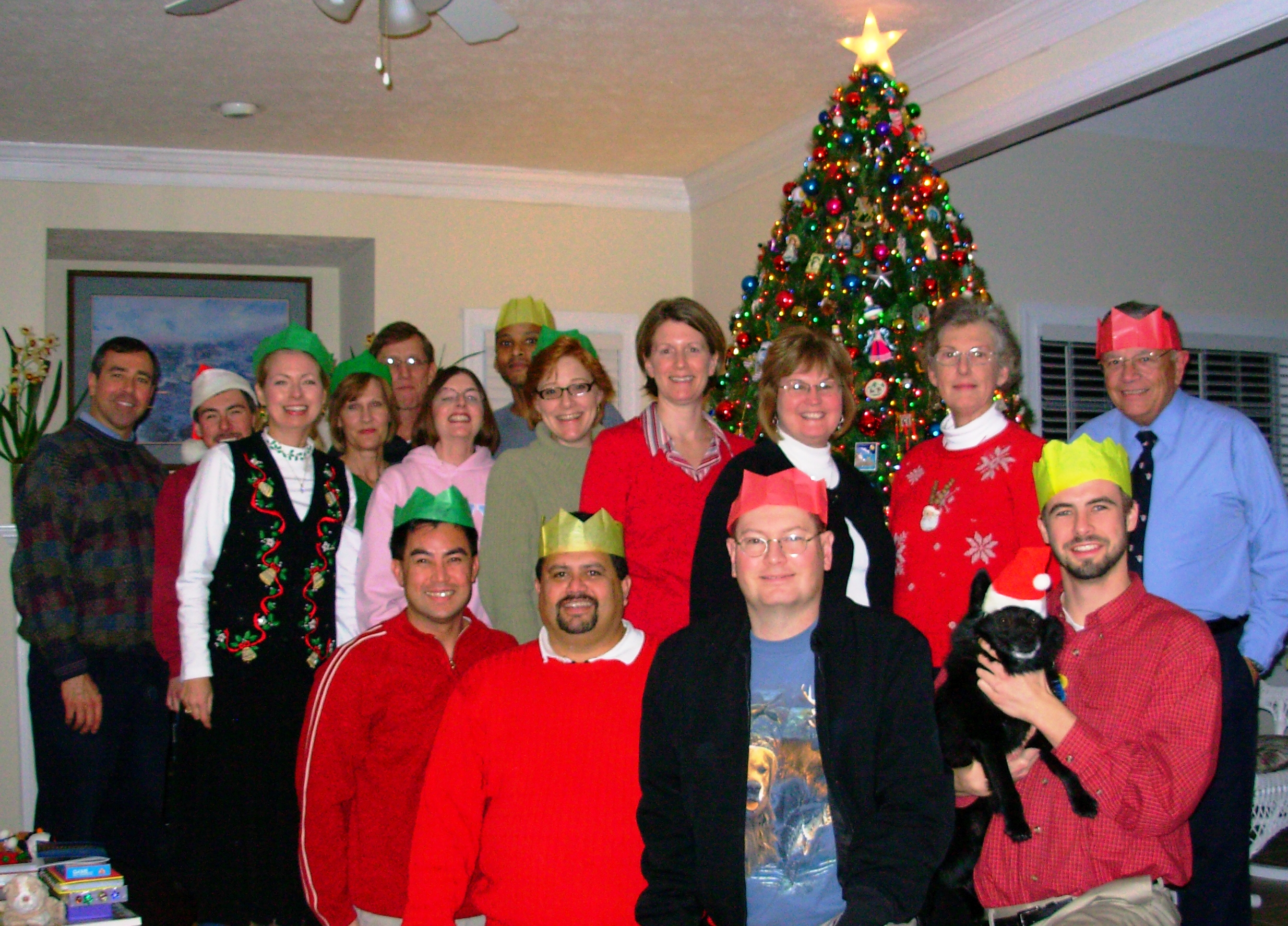 Five years ago today, our traditional Christmas dinner party with friends. We did not know it was the last time we would all be together at Christmas.  December 21, 2008