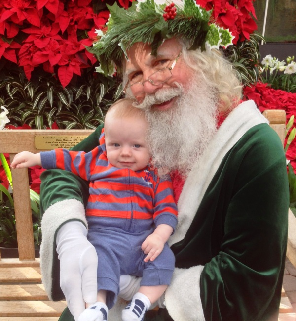 Grady meets Father Christmas at the Atlanta Botanical Garden, November 29, 2013