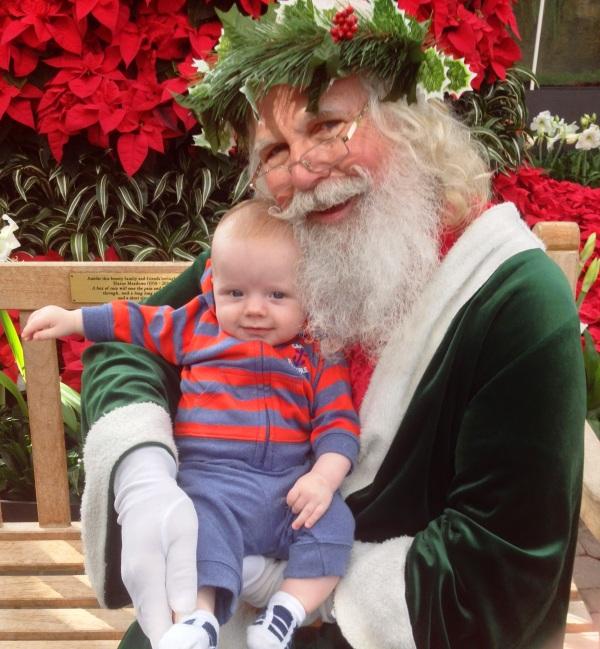 Grady meets Father Christmas at the Atlanta Botanical Garden, November 29, 2013