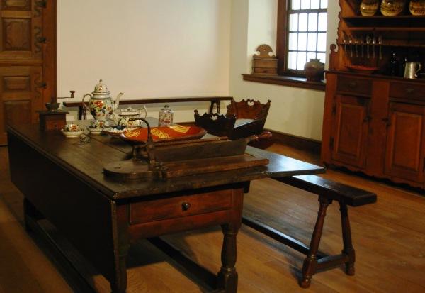 Historic furniture on display at Philadelphia Museum of Art, July 2007/