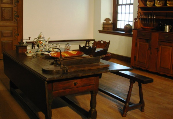 Historic furniture on display at Philadelphia Museum of Art, July 2007/