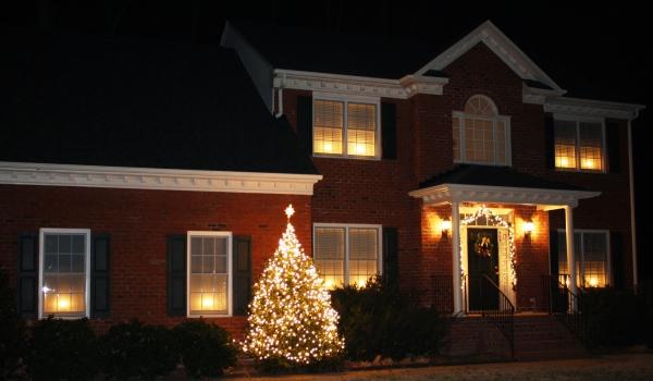 Our York home at Christmas, 2009