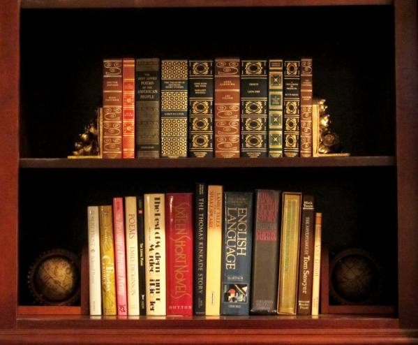 One of our bookshelves, December 2012