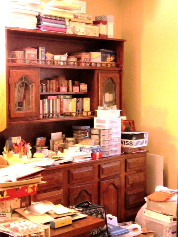 My craft room has always been the messiest spot in our Alexandria home, but now it  has lots of company.  January, 2014