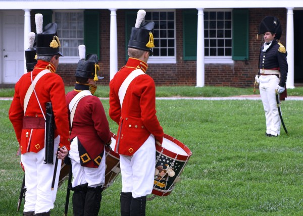 Reenactors bring the past to life at Fort McHenry in Baltimore, Maryland, August 2010