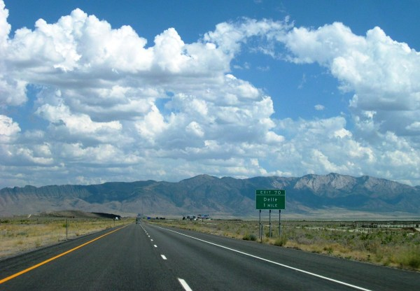 Every stretch of road has meaning...even this one near Delle, Utah, August 2004.