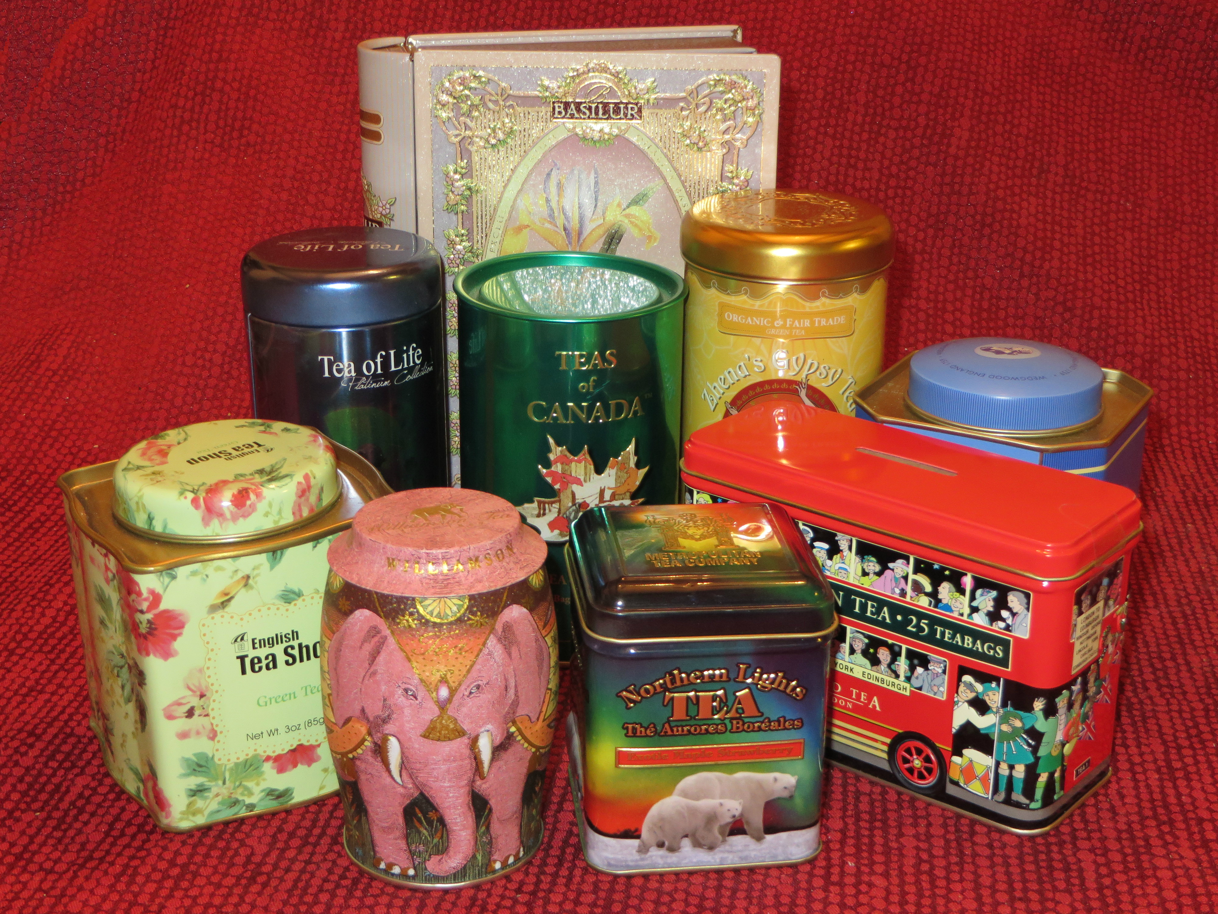 Just a few of the tins from my ELC* -- when it comes to tea, even the containers are delightful!